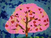 「桜」の貼り絵